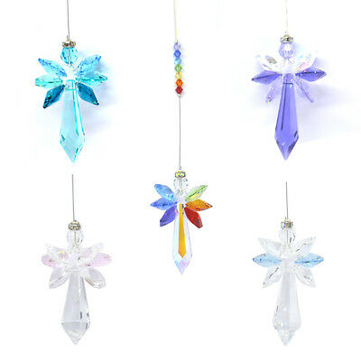 Beautiful Large Wildthing Radiant Guardian Angel Suncatcher Hanging Crystal Gift