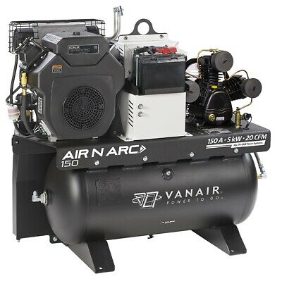 Vanair 050680, Air N Arc® 150 ALL-IN-ONE Power System, Fuel + Air Storage