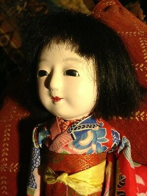 Japanese Asian 1900's Bisque Geisha Doll Early Gorgeous