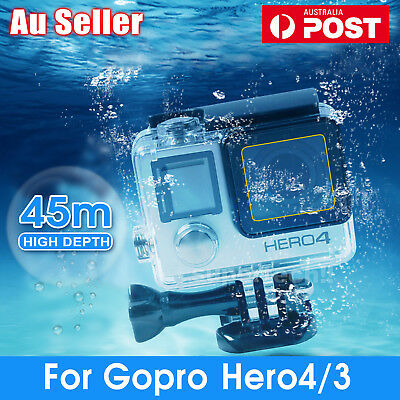 Waterproof Diving Protective Housing Clear Case For GoPro Hero 3 3+ 4 Go Pro OZ