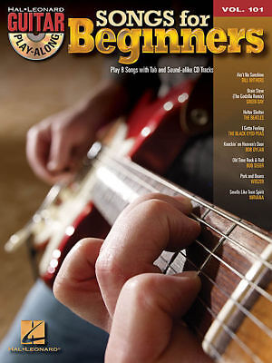 Guitar Play-Along Volume 101: Songs for Beginners TAB Book and AAI *NEW* Music