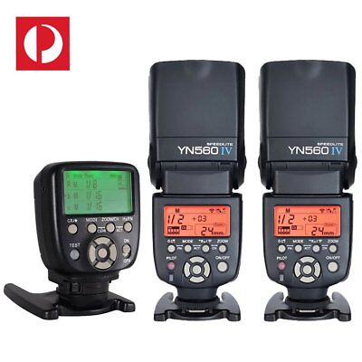 2 x Yongnuo YN-560 IV Speedlite + YN-560 TX Manual Flash Controller For Nikon AU