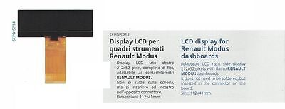 Display LCD for Renault Modus dashboards quadri strumenti