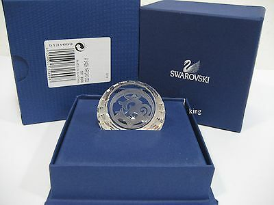 Swarovski Om Disc Paperweight, Lucky Clear Crystal Authentic MIB 5131699
