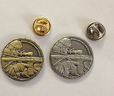 "LOT OF 2: Special Weapons and Tactics SWAT 1"" Antique Brass & Antique Silver"