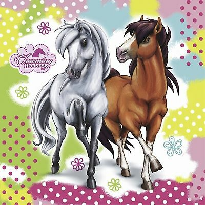 Charming Horses 20 Large Paper Napkins Girls Riding Birthday Party Table 2ply