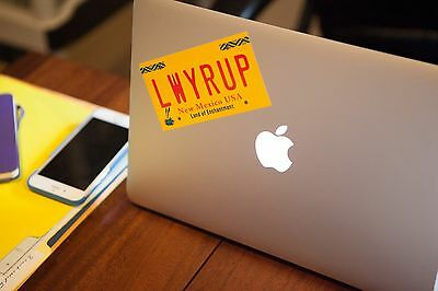 "Saul's ""LWYRUP"" license plate Bumper Sticker as inspired by Breaking Bad"