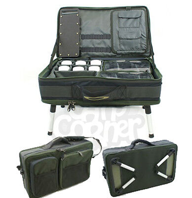 New Carp Fishing Bivvy Table System Rig Terminal Storage Carryall Bag On Legs