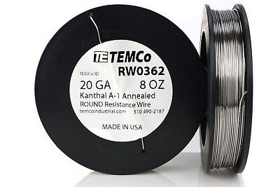 TEMCo Kanthal A1 wire 20 Gauge 8 oz (200 ft) Resistance AWG A-1 ga
