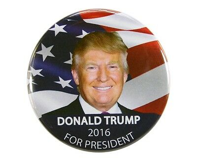 """2016 DONALD TRUMP for PRESIDENT 2.25"""" CAMPAIGN BUTTON, dtf"""