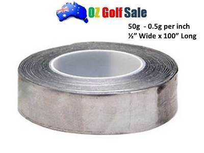 "NEW 1Roll 1/2""  x 100"" SELF ADHESIVE LEAD TAPE - ADD GOLF CLUB WEIGHT"