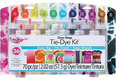SUPER BIG Tie Dye 12 Colour Kit by Tulip - FREE POST - dyes up to 36 items DIY