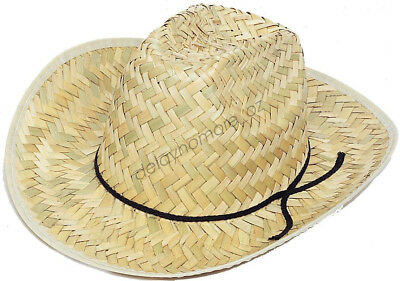 1 x Child Straw Western Cowboy Hat Dress Up Costume Party Supplies Boy&Girl VIC