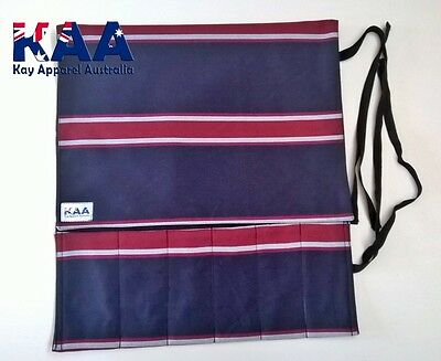 Knife Roll Butchers/Chefs Navy/Red, Smoking, American BBQ