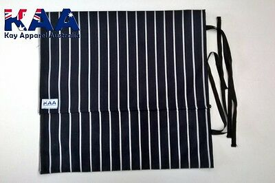 Butchers Chefs Black and White Pinstripe Knife Roll Wrap *MADE IN KINGAROY QLD*