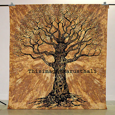 Tree of Life Tapestry Indian Wall Hanging Hippie Tapestries Bedspread Art Decor