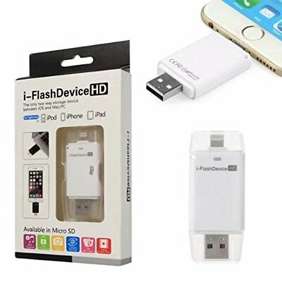 USB Lightning TF Micro SD Reader Memory Card Adapter For Apple iPhone 5 6 8 iPad