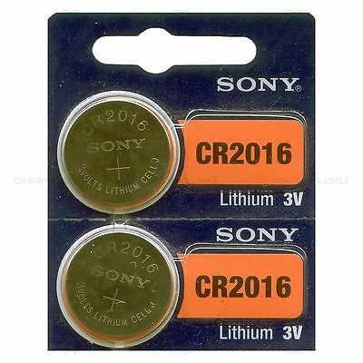 2 NEW SONY CR2016 3V Lithium Coin Battery Expire 2027 FRESHLY NEW - USA Seller