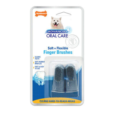 Nylabone Advanced Oral Care Finger Brush 2ct Direct from Manufacture