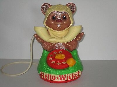 "Kenner 1984 Star Wars ""Hello Wicket"" Ewok Talking Telephone **WORKS ~ VIDEO**"