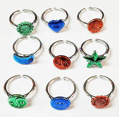 96 pcs 7 Design Girl Toys Rings Wholesales Pinata School Prize Party Favors Gift