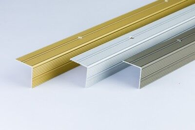 ANODISED ALUMINIUM ANTI NON SLIP STAIR EDGE NOSING -TRIM- 30x 30mm