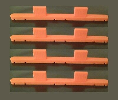4 Pack Parallel Track Triple / Twin Rail Tool for Hornby, OO/HO Tracks
