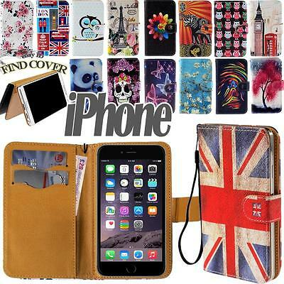 Flip Stand Card Wallet Leather Cover Case For Apple iPhone 3/4/5/6  itouch 3/4/5
