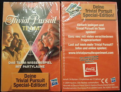 TRIVIAL PURSUIT TEAM - Kartenspiel von COCA COLA 2009