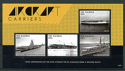 Gambia 2013 MNH Aircraft Carriers 4v M/S Hosho Graf Zeppelin USS Saipan Ships