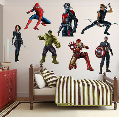 SuperHeroes Kids Boy Girls Color Bedroom Vinyl Decal Wall Art Sticker Gift New