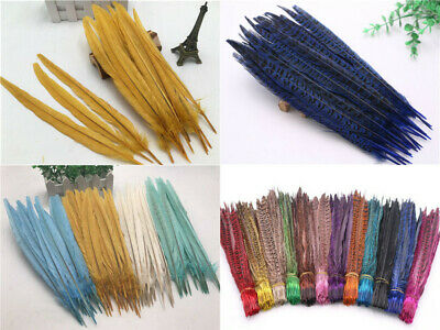 Wholesale 5-100pcs beautiful natural pheasant tail feather 10-12inches/25-30cm