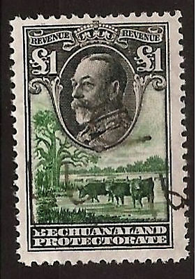 Bechuanaland 1932 Revenue £1 - Scarce So Well Centered And Lightly Cancelled