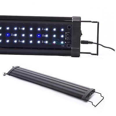 "12""/18""/24""/30""/36""/48""/72"" LED Light HIGH LUMEN Aquarium Fish Tank White Blue"