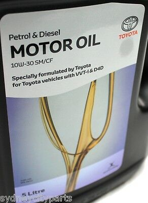 Toyota Engine Motor Oil 5L Bottle New Genuine 10W-30 Sm/cf Petrol Diesel