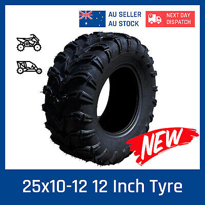 6 ply 25x10-12 Tire/Tyre for Yamaha Grizzly 350 450 550 700 UTV ATV yfm450 Buggy