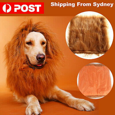 1x Pet Costume Lion Mane Wig For Dog Dogs Hair Halloween Fancy Dress Up Party