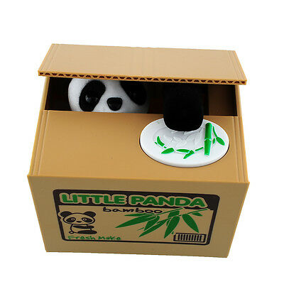 Stealing Coin Panda Penny Cents Piggy Bank Saving Box Money Box Kids Child Gift
