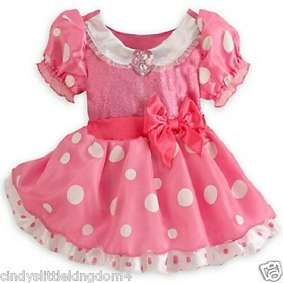 New Disney Store Minnie Mouse baby girls fancy dress outfit dressing up costume