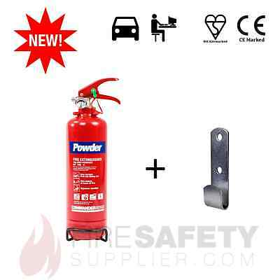 2kg ABC DRY POWDER (OFFICE/CAR/HOME/VEHICLE) FIRE EXTINGUISHER + J-BRACKET