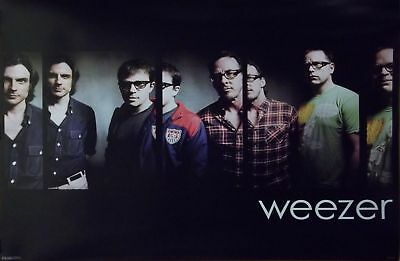 Weezer 24x36 Black Group Collage Poster Rivers Cuomo