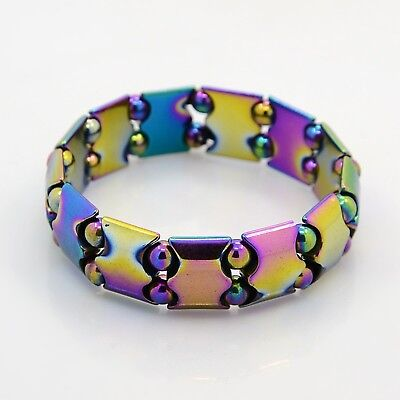 Electroplated Magnetic Hematite Stretch Bracelet Arthritic Pain & BP (M066)