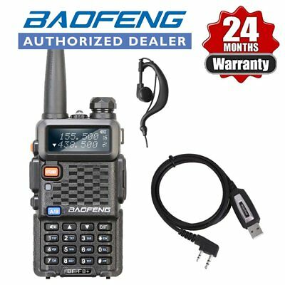 Baofeng BF-F8+ UHF VHF Dual Band Walkie Radio + Pofung UV-5R USB Cable AU
