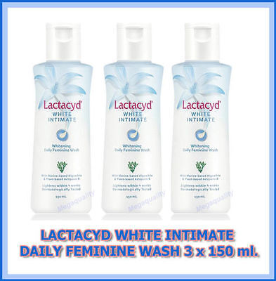 3 x 150 ml LACTACYD WOMEN FEMALE DAILY FEMININE WHITE INTIMATE WHITENING WASH