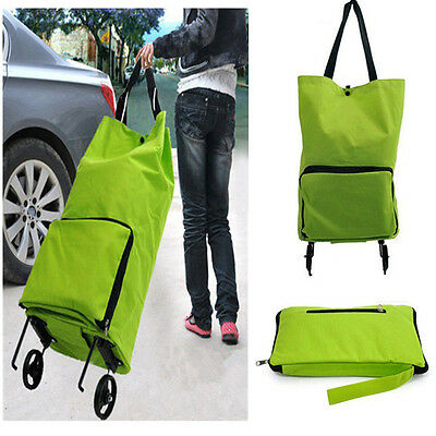 Folding Foldable Shopping Trolley Bag Cart Rolling Wheel Grocery Tote Handbag