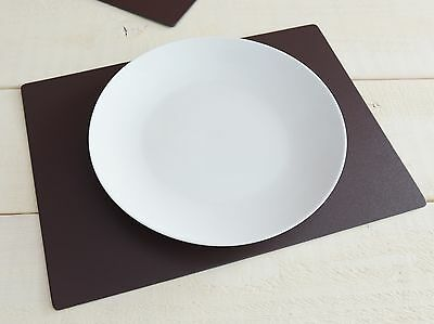 Set of 12 Brown EXTRA LARGE Leatherboard PLACEMATS