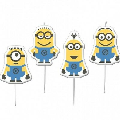 Despicable Me Minions Party Supplies Candles Pack Of 4