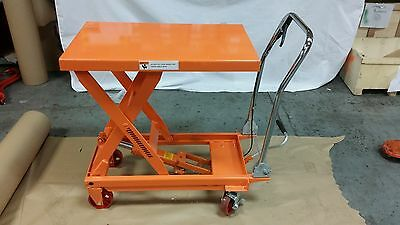 TWO! Hydraulic Scissor Lift Table Work Shop Cart 1000lb Capacity SHIPS FREE!!