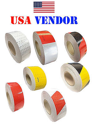 """2""""x150' DOT-C2 Reflective Safety Warning Conspicuity Tape Honeycomb Marking"""