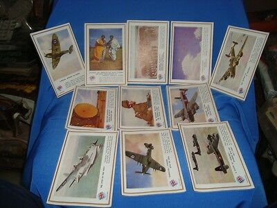 11 OLD VINTAGE Color  PICTURE POST CARDS FROM WWII England 1944